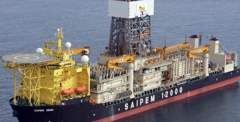 La nave Saipem 12000 bloccata al largo di Cipro