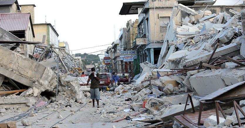 Haiti, subito dopo il terremoto del 12 gennaio 2010 (Afp)
