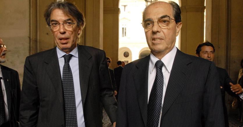 Gian Marco Moratti (a destra) accanto al fratello Massimo