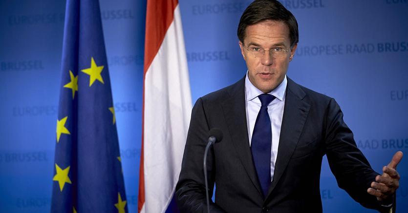Il premier olandese Mark Rutte (Imagoeconomica)