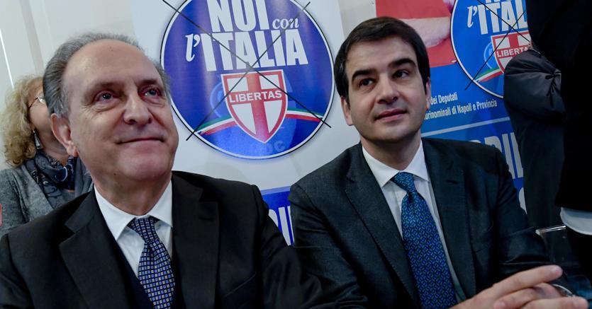 """Lorenzo Cesa e Raffaele Fitto, leader di """"Noi con l'Italia"""".(Ansa)"""