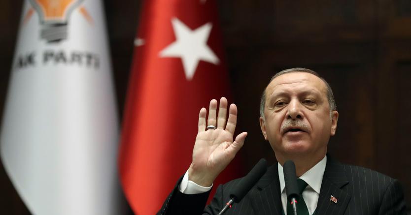Il presidente della Turchia Recep Tayyip Erdogan