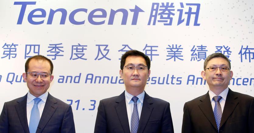 Martin Lau,  Pony Ma e John Lo (Reuters)