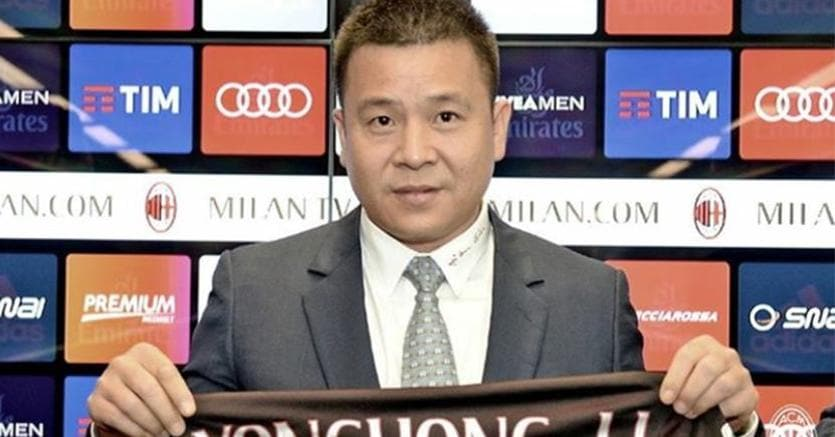 Milan, arrivati gli 11 milioni per l'aumento di capitale da Yonghong Li