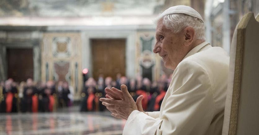 Il Papa emerito Benedetto XVI (foto Ansa)
