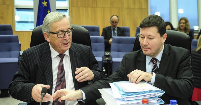 Jean-Claude Juncker  e  Martin Selmayr (Afp)