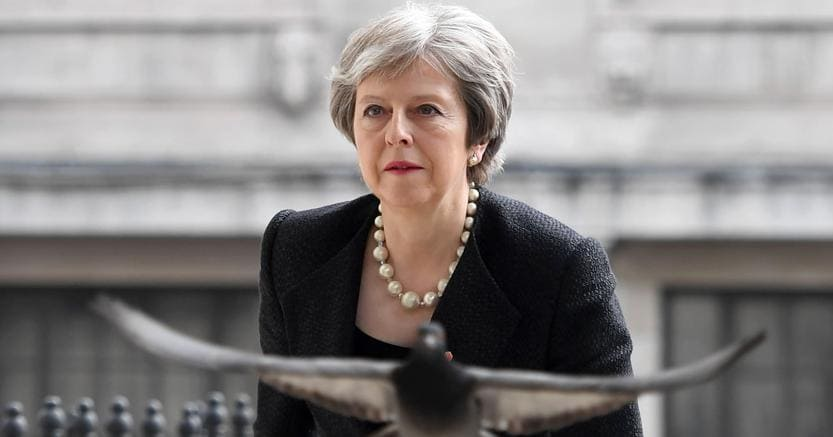 La premier britannica Theresa May (Afp)