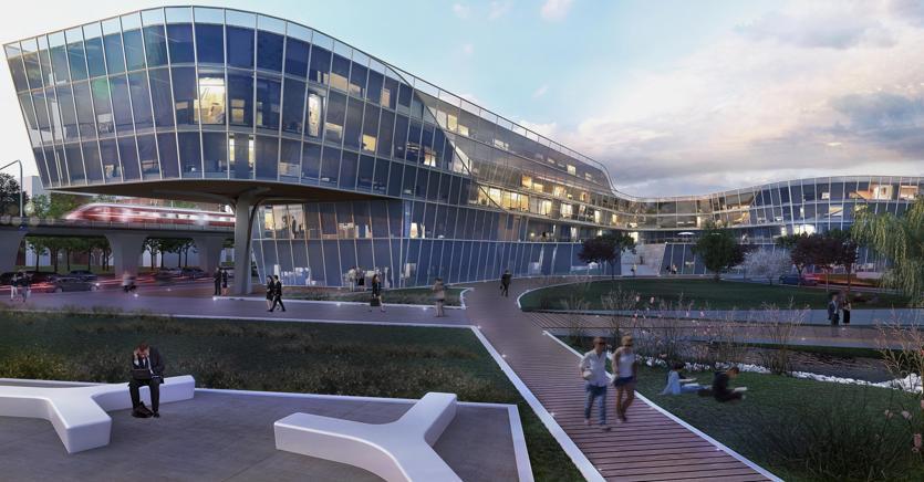 Fiumicino al via la business city del leonardo da vinci for Roma business center