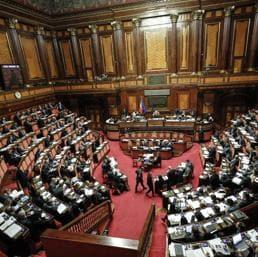 Probabile ondata di emendamenti al decretone reddito di cittadinanza quota 100 attesa martedì mattina in commissione Lavoro al Senato (nella foto Ansa l'aula di Palazzo Madama)