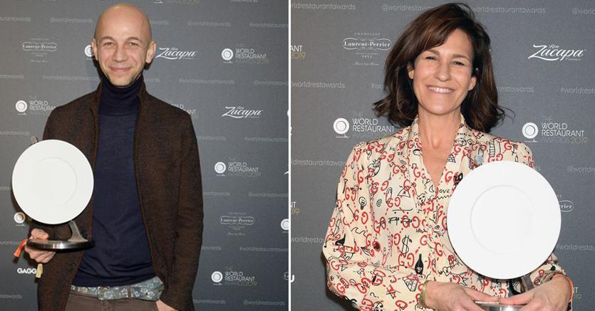Riccardo Camanini (a sinistra) e Lara Gilmore (a destra) (foto di Dominique Charriau)