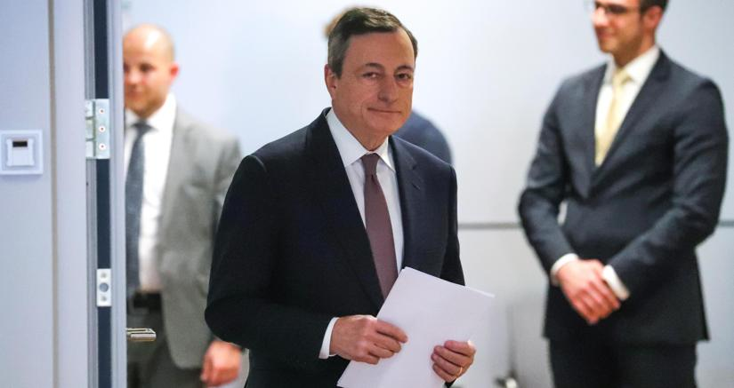 Il presidente della Bce Mario Draghi (Epa)