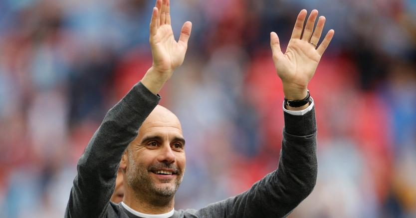 Il manager del Manchester City  Pep Guardiola (Reuters)
