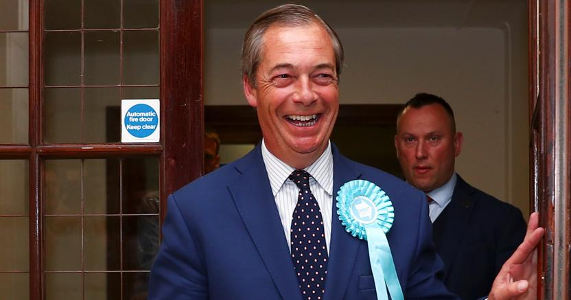 Nigel Farage, leader del Brexit Party (Reuters)
