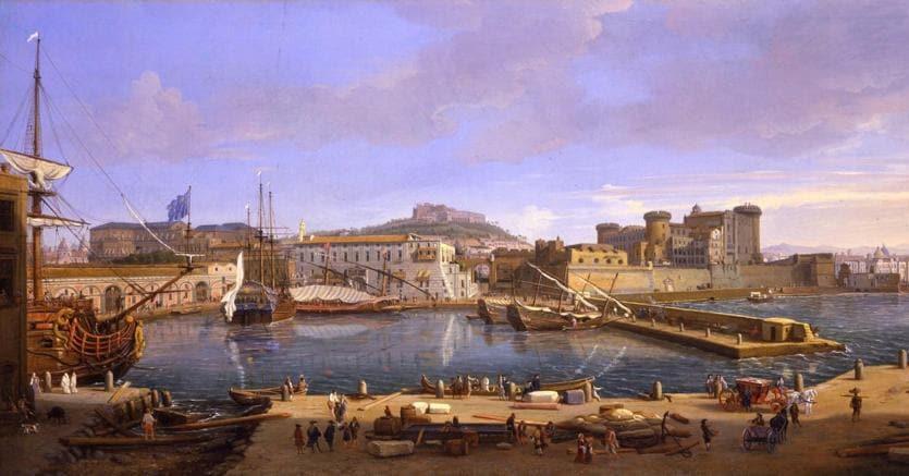 Robilant+Voena Veduta della Darsena di Napoli di Gaspar Van Wittel del 1700, 55x108,5 cm proposta per 1,8 milioni di euro