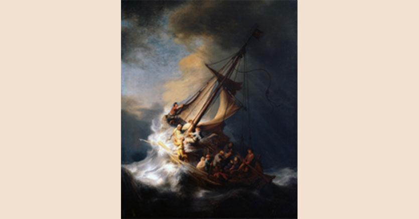 Rembrandt – Cristo nella Tempesta del Mare di Galilea (unico dipinto marino dell'artista), di proprietà del Gardner Museum di Boston, rubato nel 1990