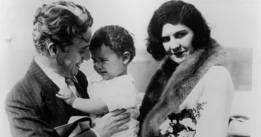Charlie Chaplin con la moglie Lita Grey (Afp)