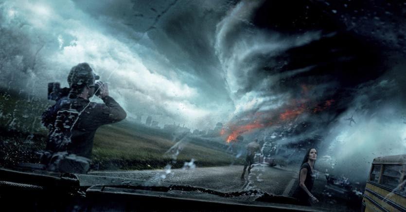 """Una scena di """"Into the Storm"""", film catastrofico del 2014 girato in stile falso documentario, diretto da Steven Quale (AFP Photo)"""