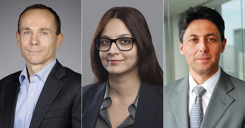 Da sinistra Jean Jacques Durand (2°), Shamaila Khan (1°) e Federico Kaune (3°)