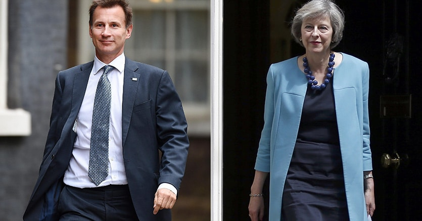 Image result for jeremy hunt theresa may