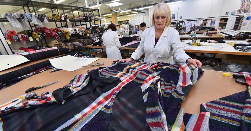 Industria tessile a Sumirago, Varese (Afp)