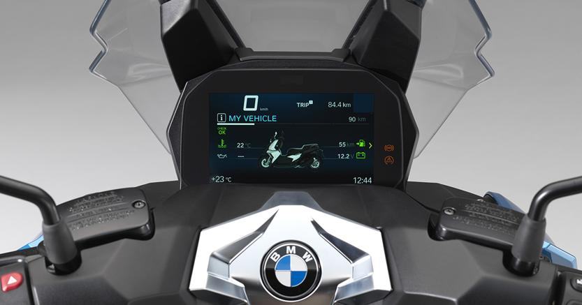 bmw c 400 x strumentazione digitale. Black Bedroom Furniture Sets. Home Design Ideas