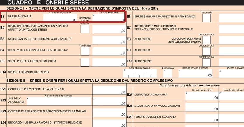 Le trappole del 730 spese sanitarie for Denuncia redditi 2017
