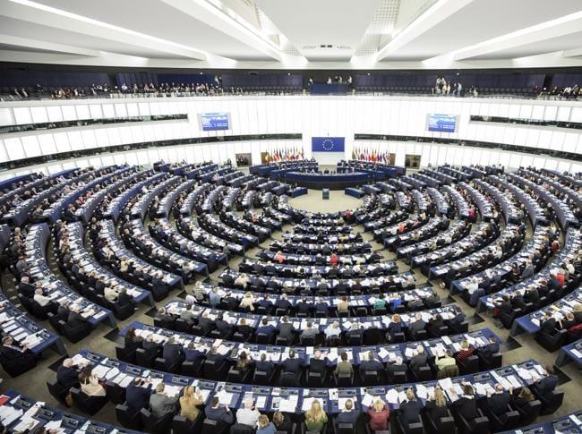 Una foto dell'Europarlamento a Strasburgo (Ap)