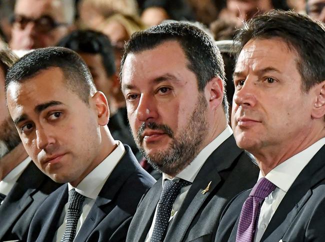 Luigi Di Maio, Matteo Salvini e Giuseppe Conte (ANSA)