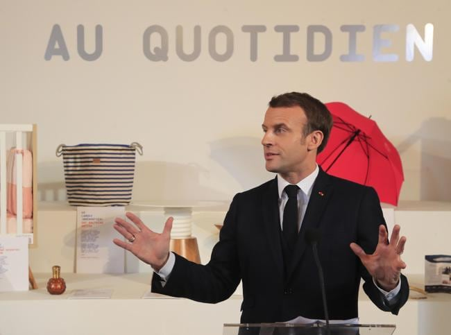 Il presidente francese, Emmanuel Macron (EPA)