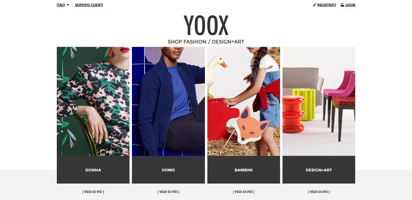 yoox rinnova il look con pi servizi e personalizzazioni il sole 24 ore. Black Bedroom Furniture Sets. Home Design Ideas