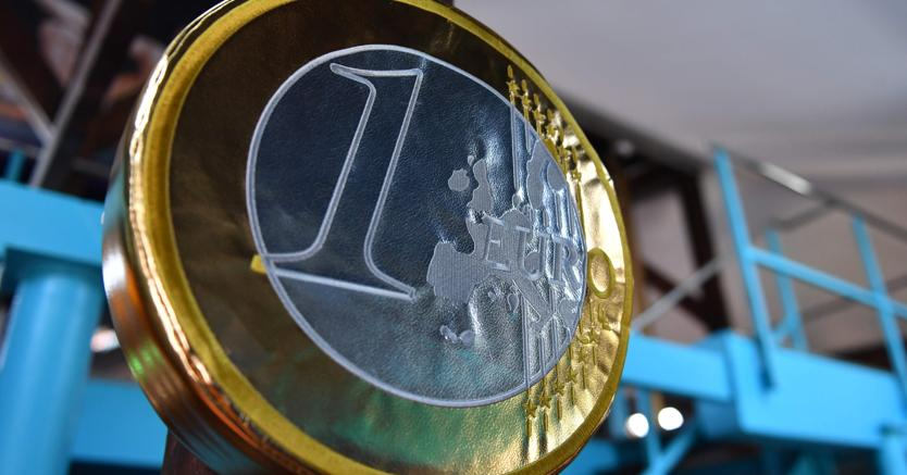 A one euro coin cushion at the new Kitsch Museum opened in Bucharest (Afp)