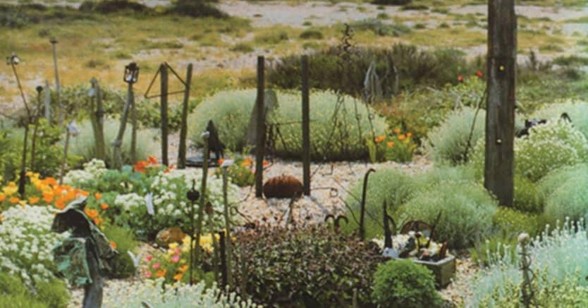 Il giardino di Derek Jarman con sullo sfondo la centrale nucleare di Dungeness, sulla costa del Kent, è uno dei luoghi su cui riflette  Pia Pera