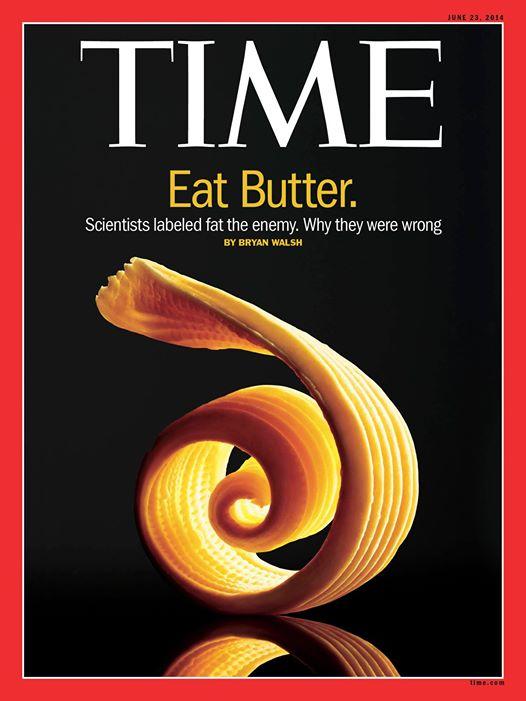 Contrordine: il burro fa bene. Lo dice anche Time