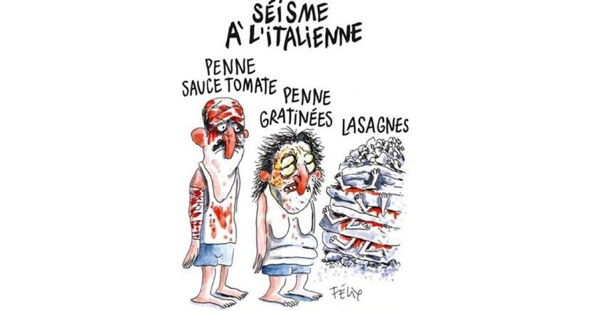 Charlie Hebdo scherza sul terremoto, la vignetta fa indignare la rete