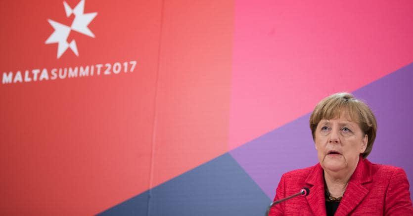 Angela Merkel durante un  vertice informale tra  i capi di Stato e di governo dell'Unione europea , Malta, 3 febbraio, 2017. (Jasper Juinen/Bloomberg)