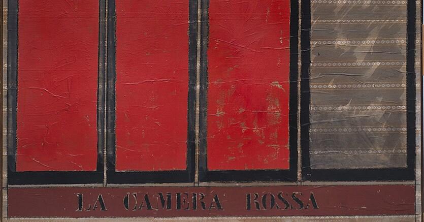 """Tano Festa """"La camera rossa"""" 1963 Stima: 10.000-15.000 euro Aggiudicato per 72.000 euro"""