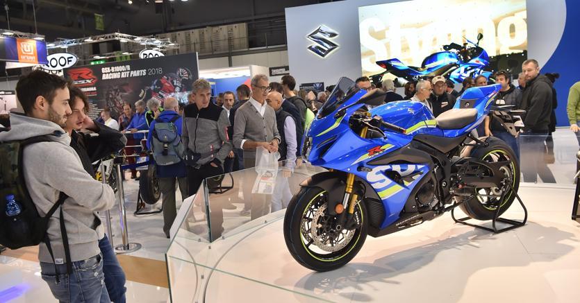 Eicma 2017, Fiera del ciclo e motociclo alla Fiera Rho Pero. Fotogramma