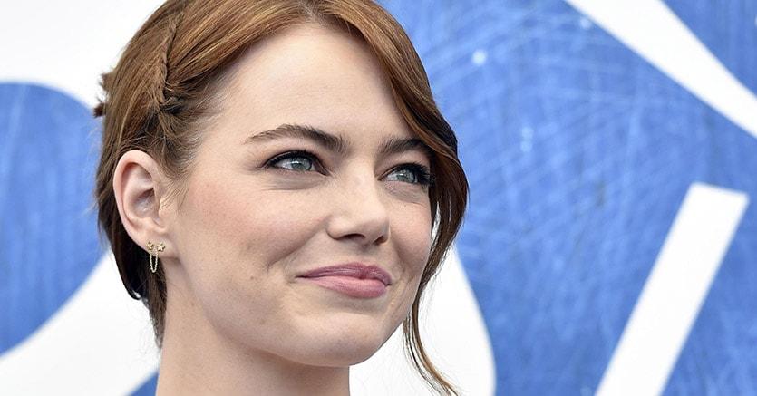 Emma Stone al photocall del film La La Land (Ansa)