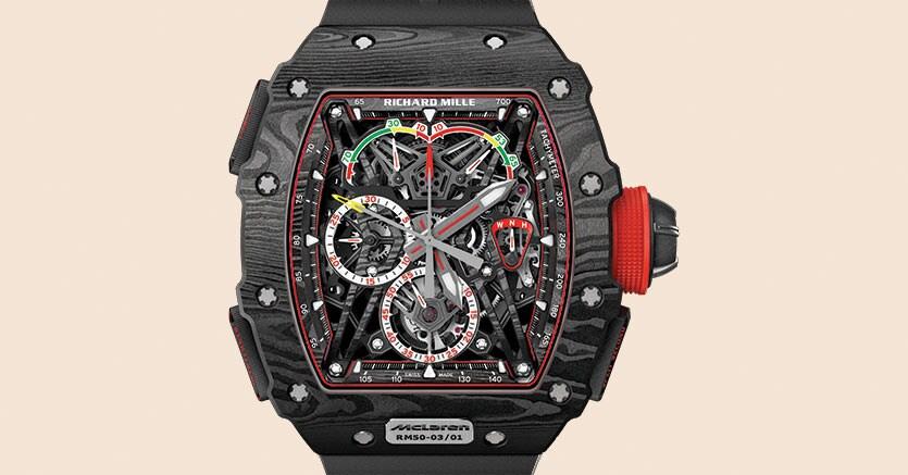 Richard Mille. Cronografo 50-03, pesa meno di 40 grammi, costa 1,1 milioni di €
