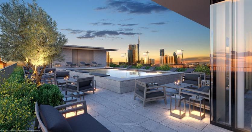Apre viu hotel 5 stelle a milano porta volta il sole 24 ore for Luxury hotel 5 stelle