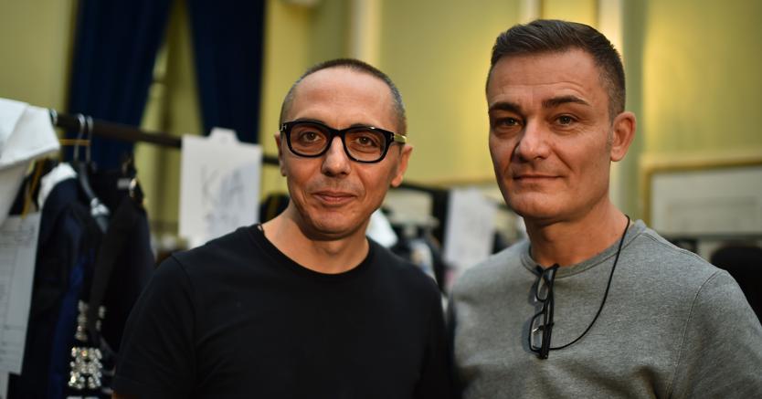 Gli stilisti Tommaso Aquilano e Roberto Rimondi. (Afp)