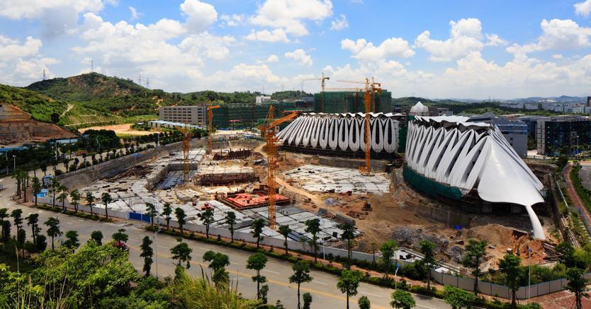 Il cantiere della sede Marisfrolg a Shenzhen