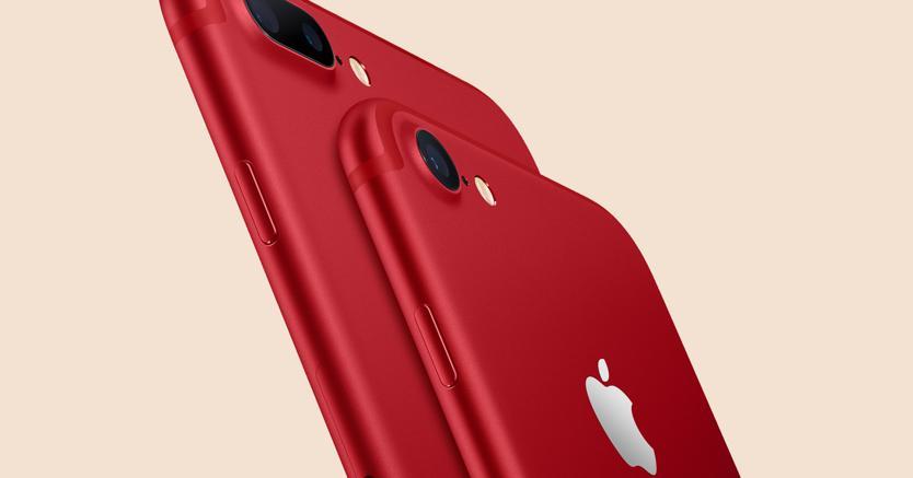IPhone 7 e iPhone 7 plus, Apple si tinge di rosso