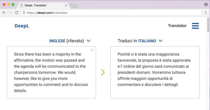 traduttore multilingua non linea