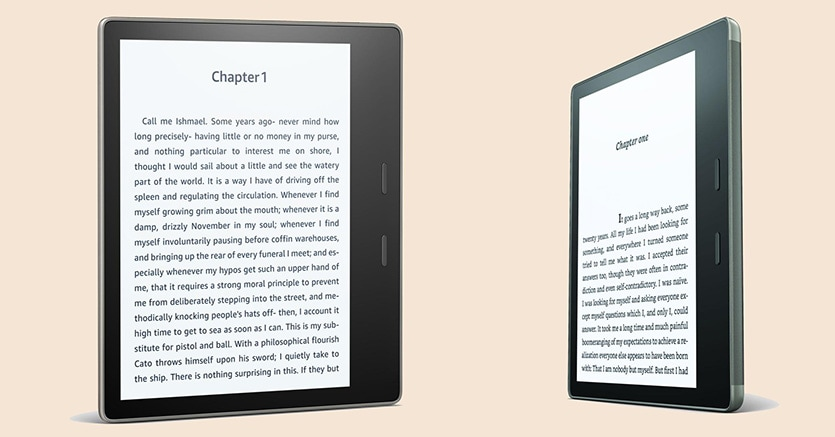 Kindle Oasis, il primo e-reader impermeabile di Amazon