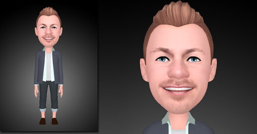 Alessandro Cattelan in formato Ar Emoji   realizzato con  Samsung Galaxy