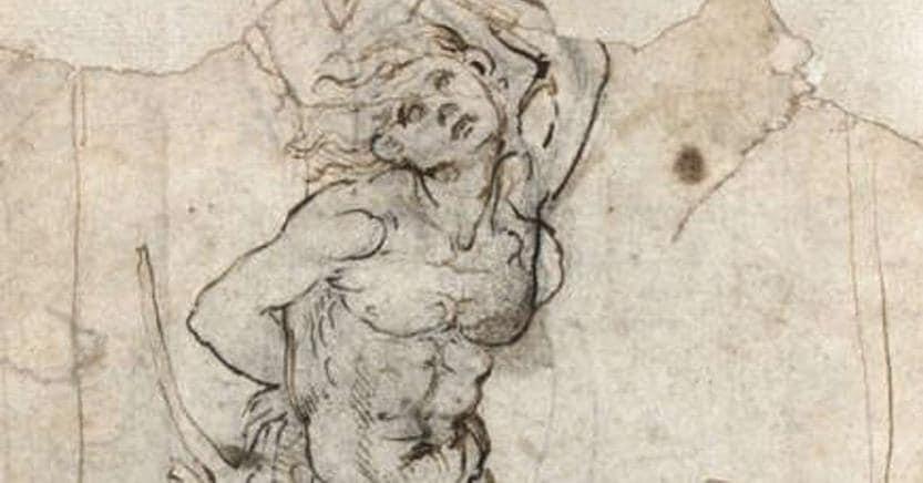 Studio raffigurante il Martirio di San Sebastiano attribuito da Carmen C. Bambach del Met a Leonardo da Vinci
