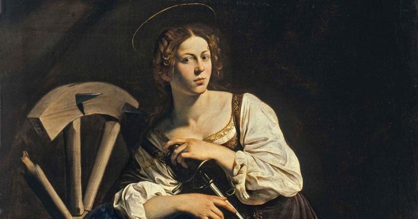 Michelangelo Merisi da Caravaggio: Santa Caterina d'Alessandria, Museo Thyssen-Bornemisza, Madrid
