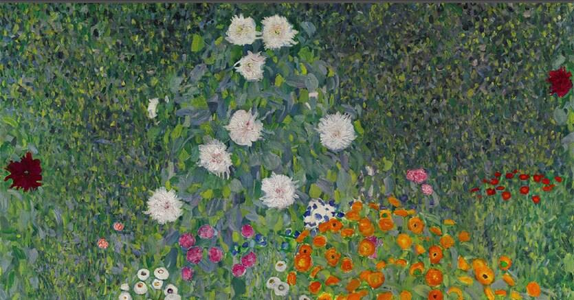 Gustav Klimt, Bauerngarten (Blumengarten), oil on canvas, painted in 1907 (Estimate upon request)