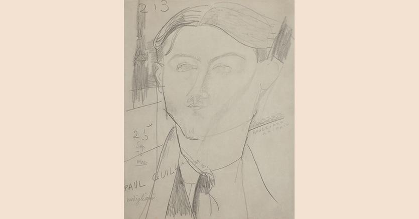 Amedeo Modigliani, Ritratto di Paul Guillaume, 1915, stima 60mila - 80mila euro